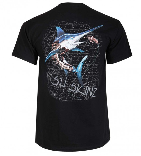 Fish Skinz - Skeleton Swordfish SS - Black - OffshoreApparel.com