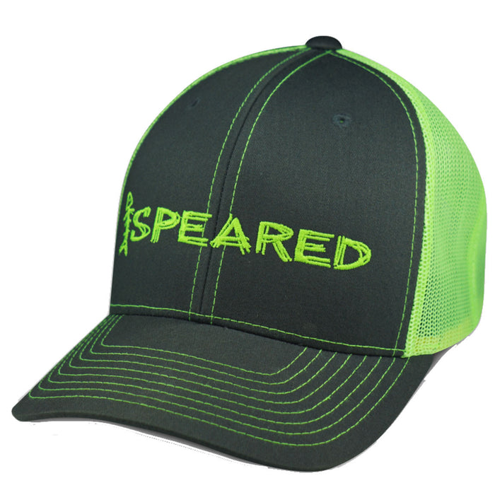 Speared - Trucker - Charcoal/Greem - OffshoreApparel.com