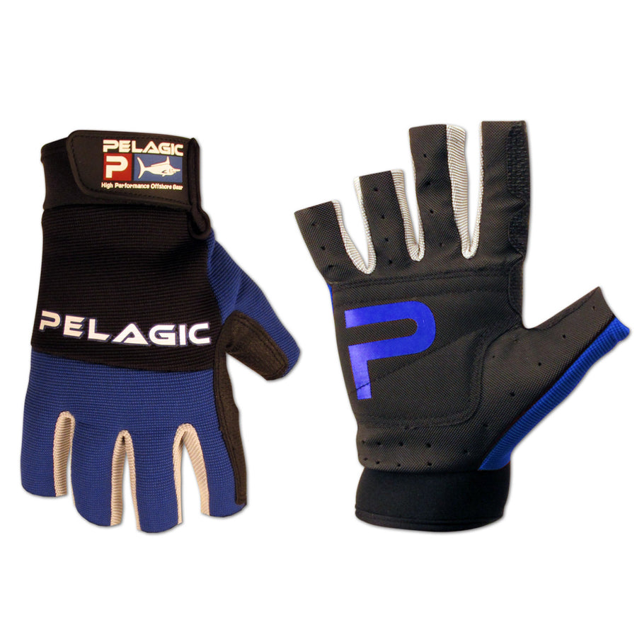 Pelagic - Battle Gloves-Black/Blue - OffshoreApparel.com