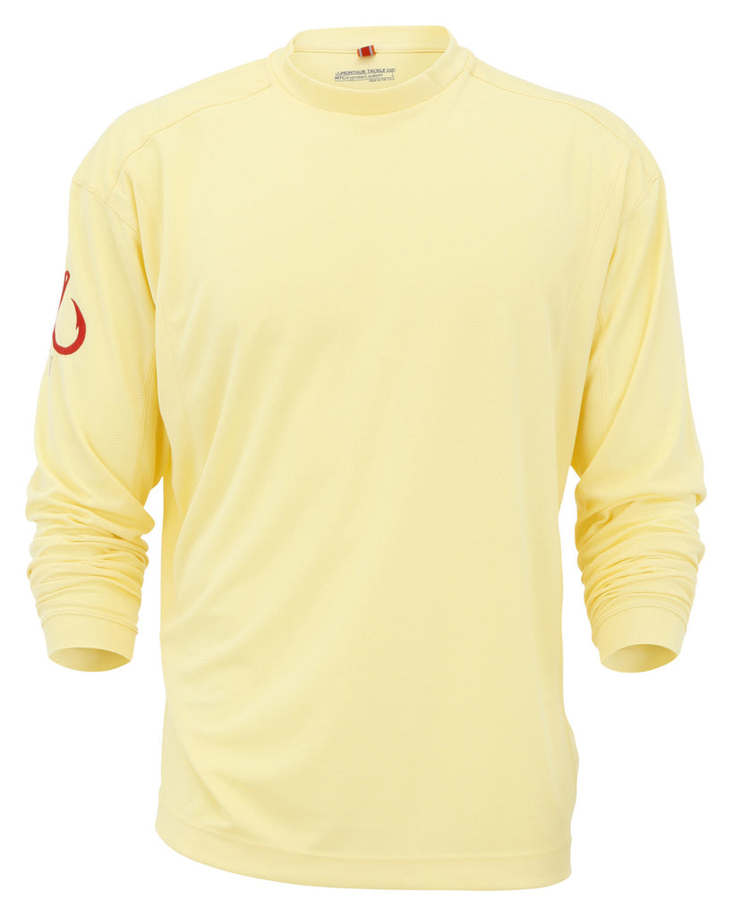 Montauk Tackle-Light Weight Performance (LS)-Yellow - OffshoreApparel.com