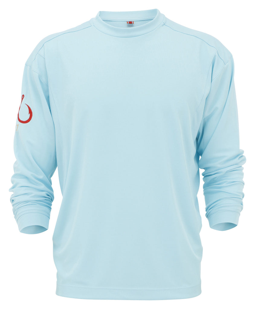 Montauk Tackle-Light Weight Performance (LS)-Aqua - OffshoreApparel.com