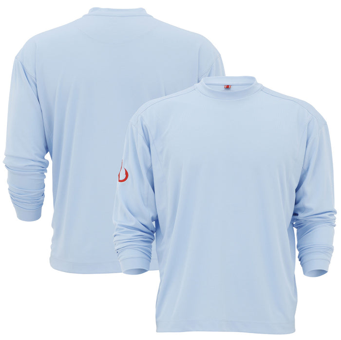 Montauk Tackle-Light Weight Performance (LS)-Sky Blue - OffshoreApparel.com