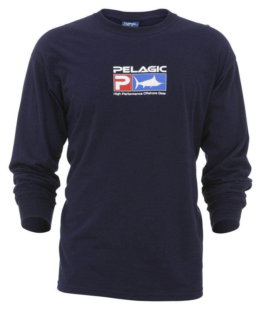 Pelagic-Deluxe Long Sleeve-Navy - OffshoreApparel.com