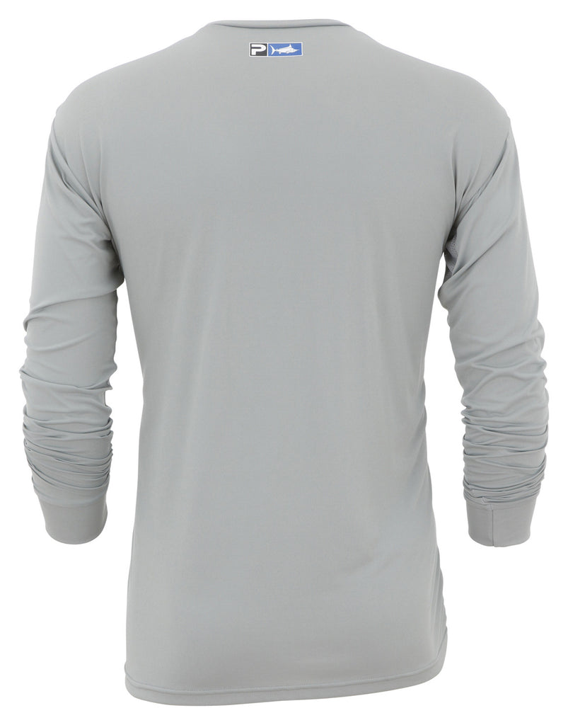 Pelagic - Aquatek Long Sleeve SPF Shirt-Grey - OffshoreApparel.com