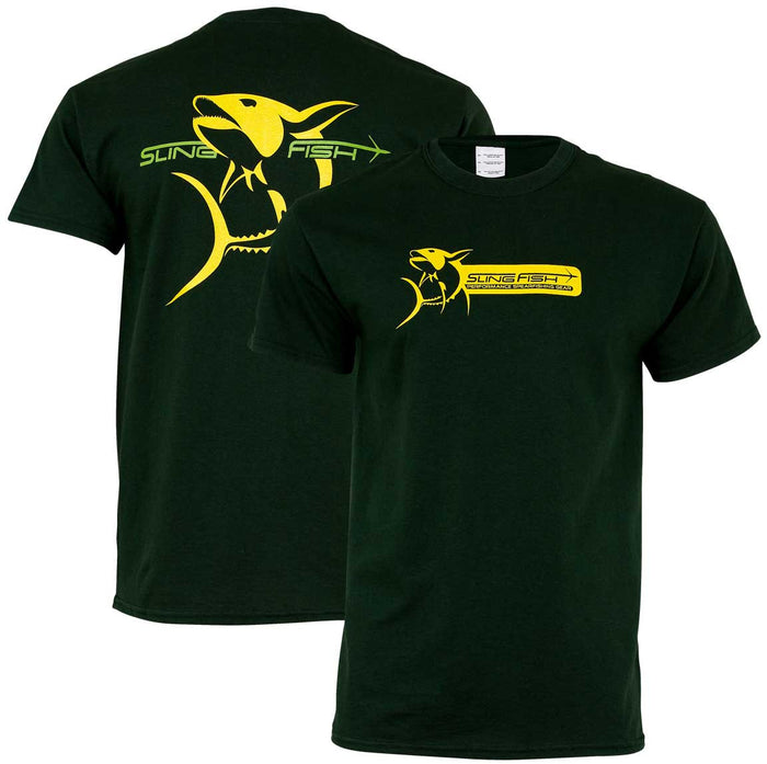 Slingfish -Yellowfin Tee - Green - OffshoreApparel.com