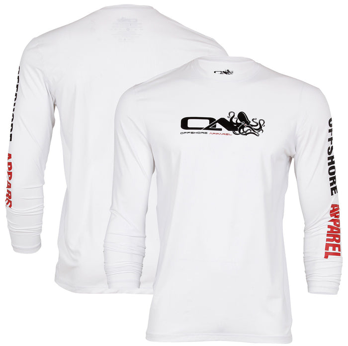 Offshore Apparel - Men's LS Octo Rash - White - OffshoreApparel.com