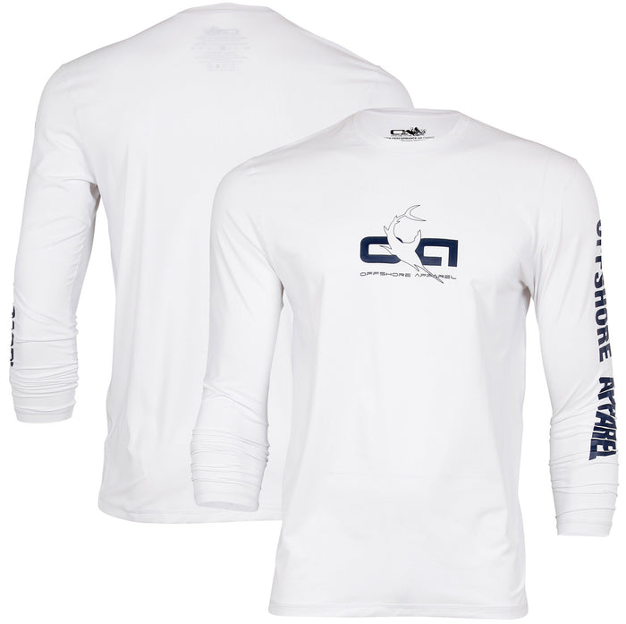 Offshore Apparel - LS Sword Rash Shirt - White - OffshoreApparel.com