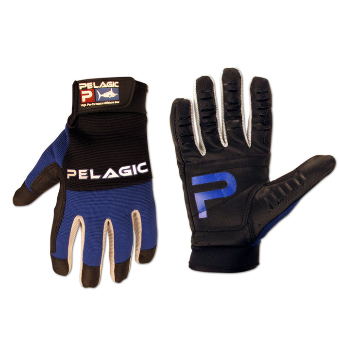 Pelagic - End Game Gloves-Black/Blue - OffshoreApparel.com