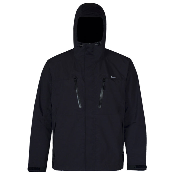 Grundens - Gauge-Burning Daylight Hooded Jacket-Black - OffshoreApparel.com