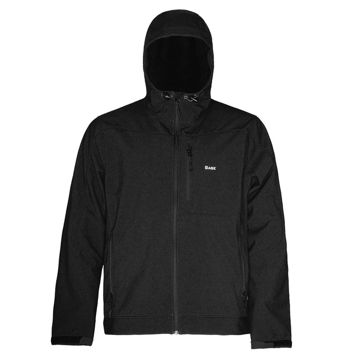 Grundens - Gauge-Midway Hooded Softshell-Black - OffshoreApparel.com