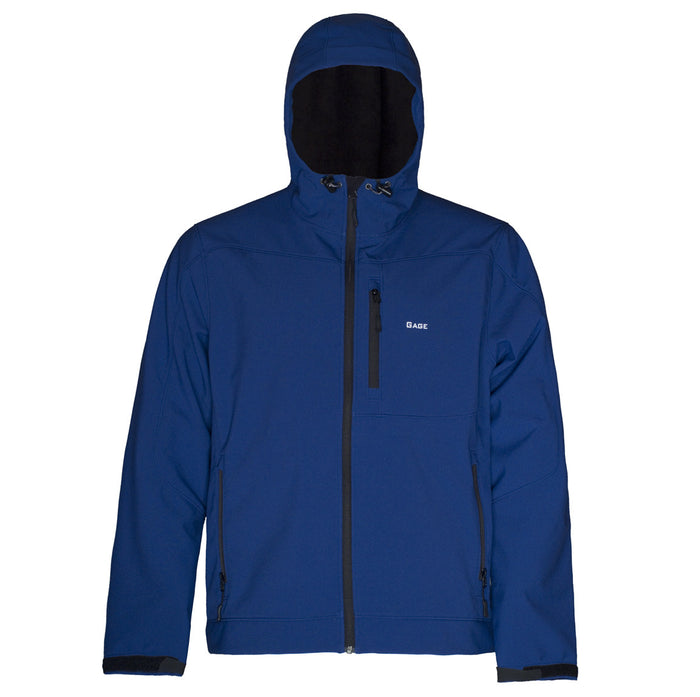 Grundens - Gauge-Midway Hooded Softshell-Indigo Blue - OffshoreApparel.com
