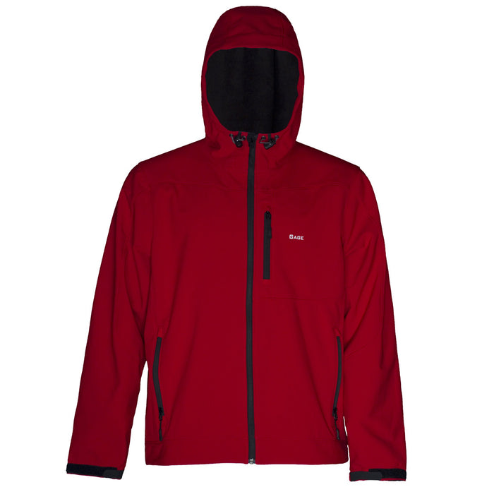 Grundens - Gauge-Midway Hooded Softshell-Red - OffshoreApparel.com