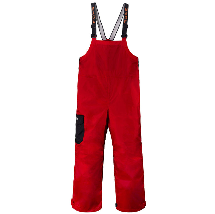 Grundens - Gauge-Weather Watch Bib Trouser- Red - OffshoreApparel.com