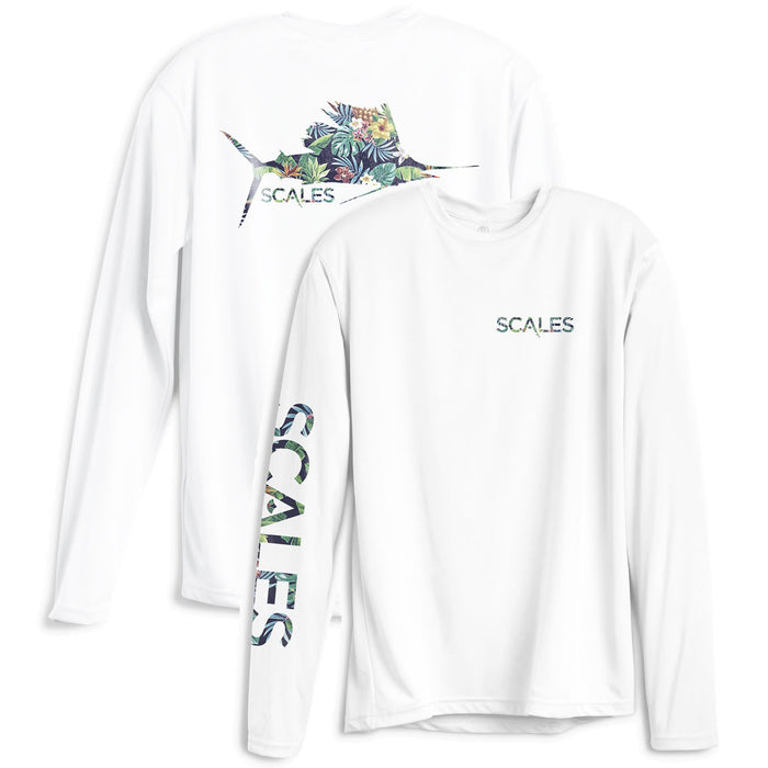 Scales - Tropical Sail Performance - White - OffshoreApparel.com