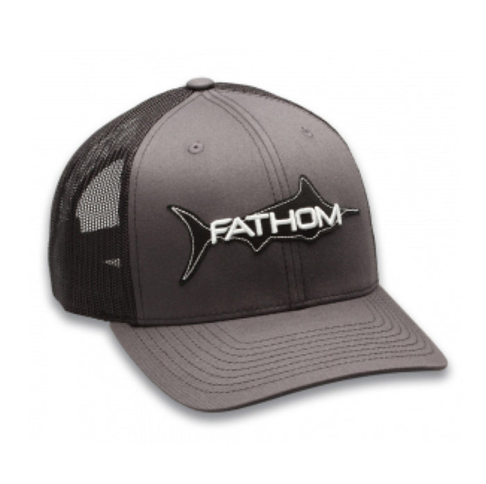 Fathom Offshore-The Trawler Cap - Charcoal/Black - OffshoreApparel.com