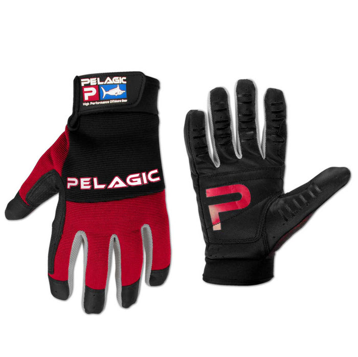 Pelagic - End Game Gloves-Black/Red - OffshoreApparel.com