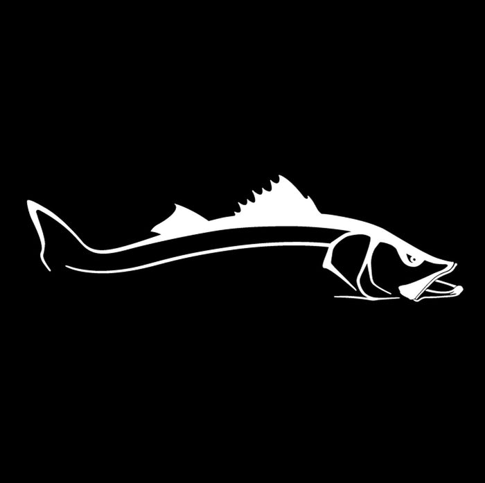 Steelfin - Snook Decal - White - OffshoreApparel.com