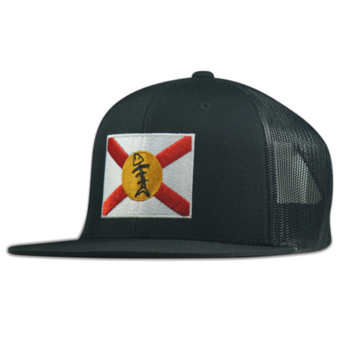 Speared - Florida Flag Hat - Black - OffshoreApparel.com