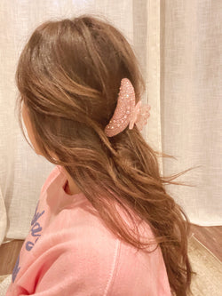 Dolly Rhinestone Hair Claw- Pink