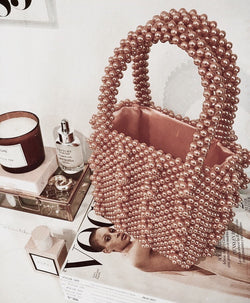 L'amour Pink Beaded Purse