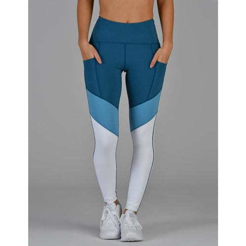 district tone legging :: moroccan blue tri-tone