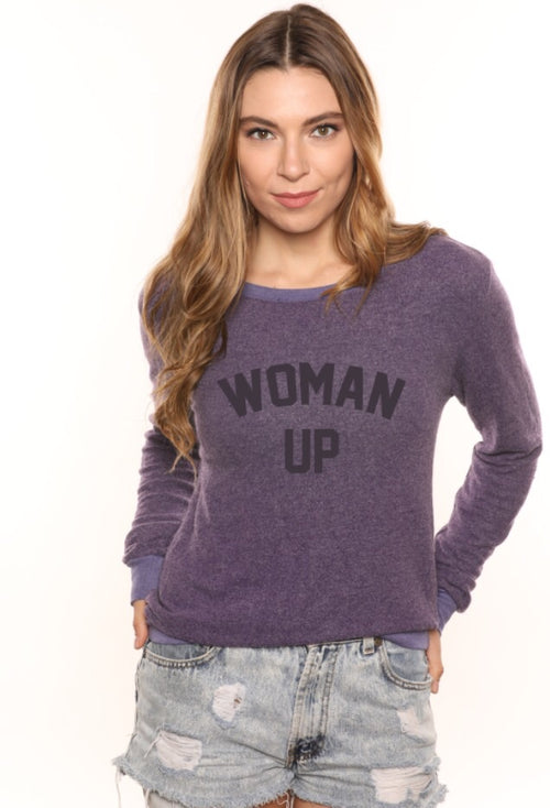 woman up cozy :: galaxy purple