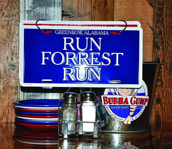 Set License Plates (Run Forrest Run, Stop Forrest Stop)
