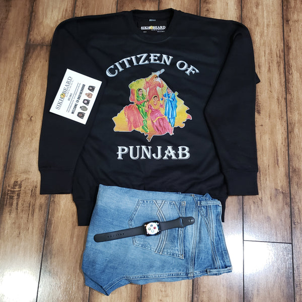 Citizen Of Punjab- crewneck sweatshirt