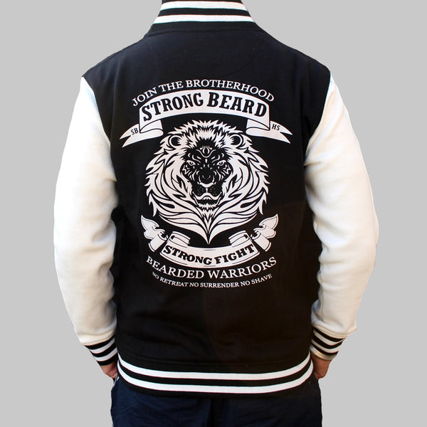 Bearded Warriors Buttoned Jacket