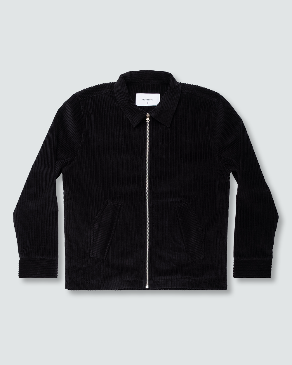 Black Corduroy Harrington Jacket