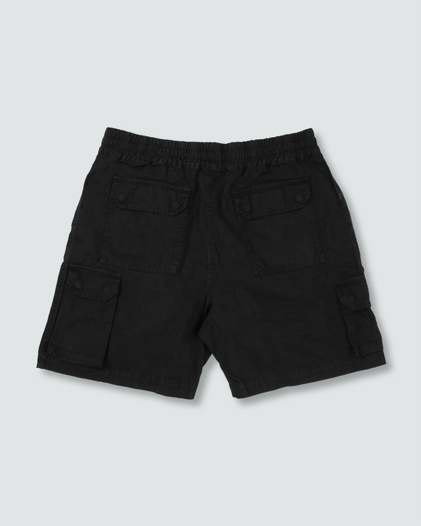 Washed Black Ottetal Utility Shorts