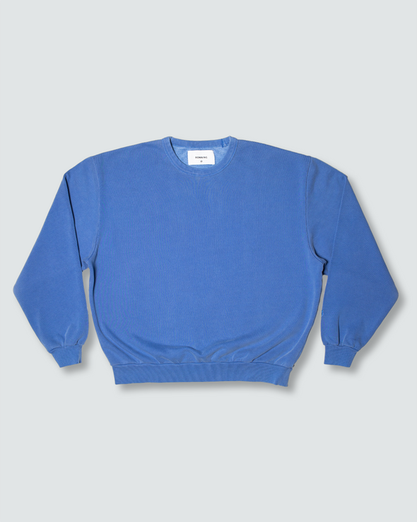 Washed Blue Everyday Crewneck