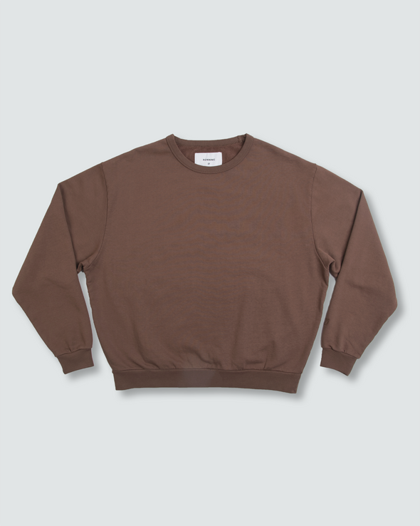 Washed Brown Everyday Crewneck