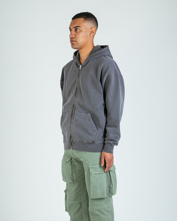 Washed Charcoal Everyday Zip Hoodie