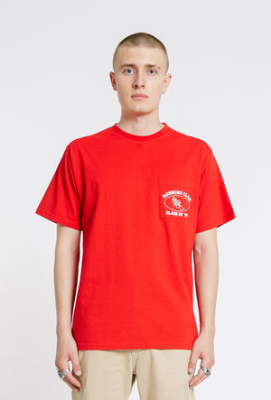 Athletic Pocket T-shirt - Red - OG