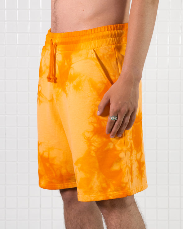 Orange Dye Sweatshorts