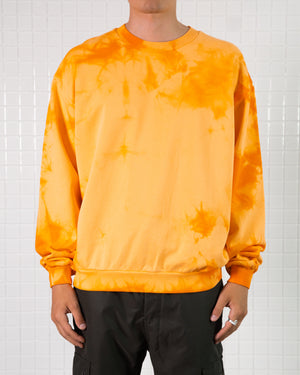 Orange Dye Crewneck Sweatshirt