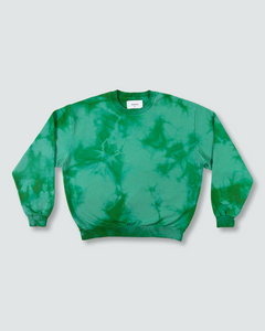 Green Dye Crewneck Sweatshirt