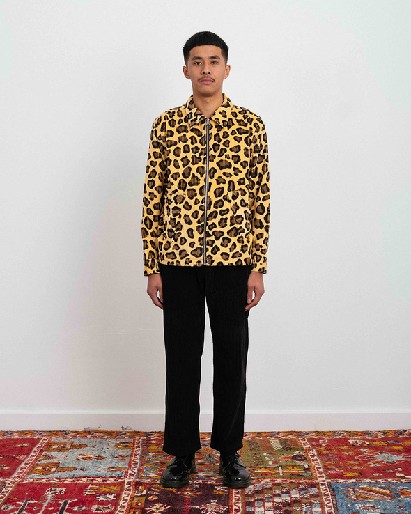 Leopard Corduroy Harrington Jacket