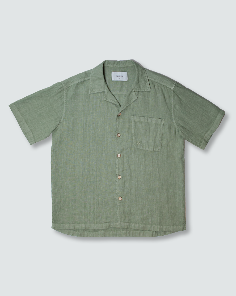 Washed Olive Linen Shirt