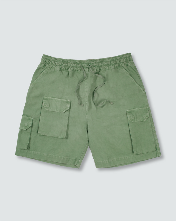 Washed Olive Ottetal Utility Shorts
