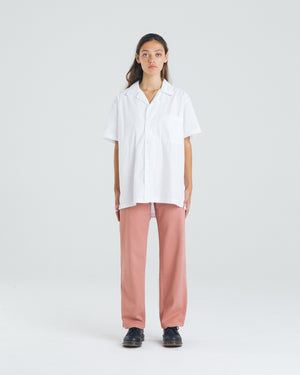 White Camp Collar Shirt