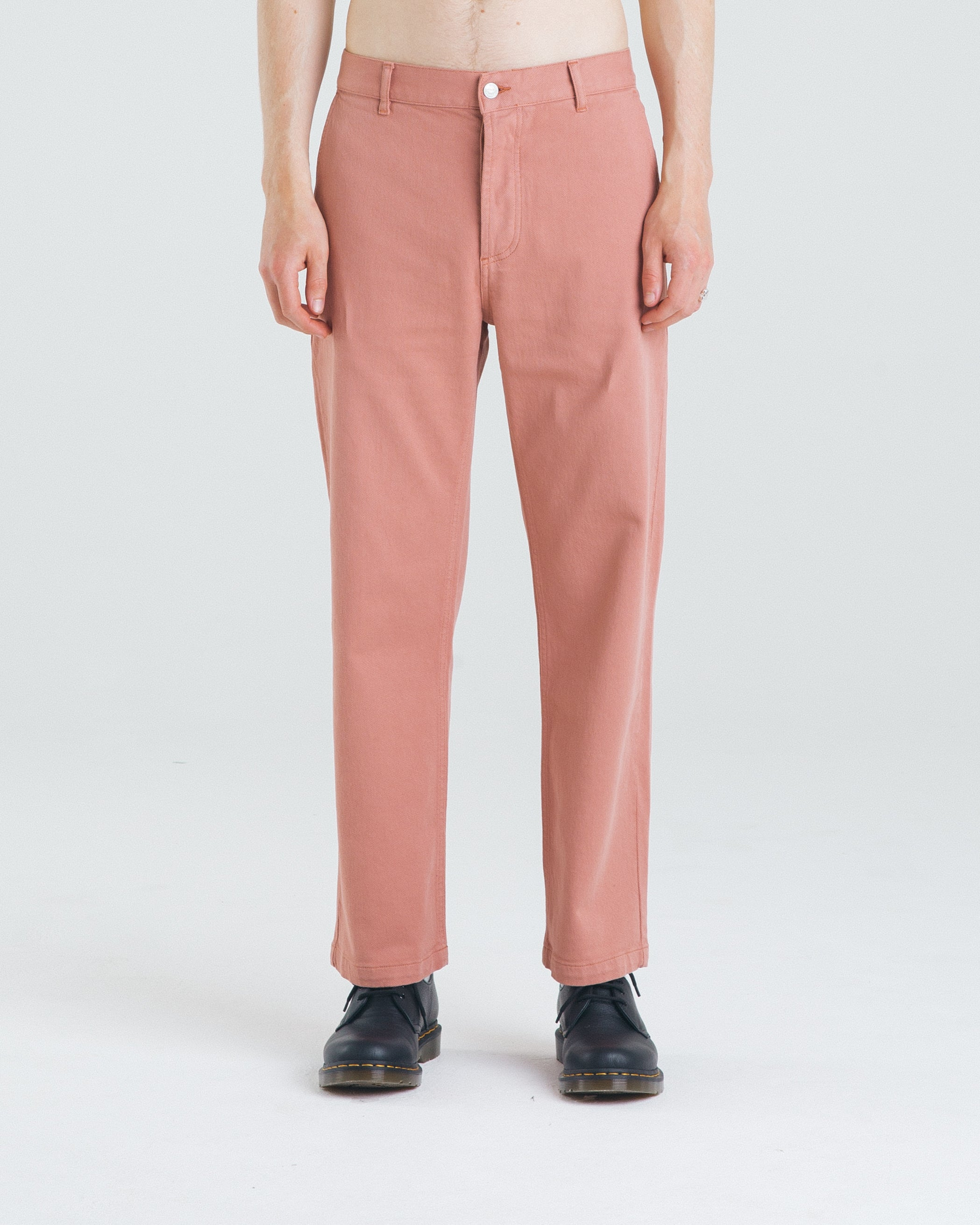 Dusty Pink Twill Pants