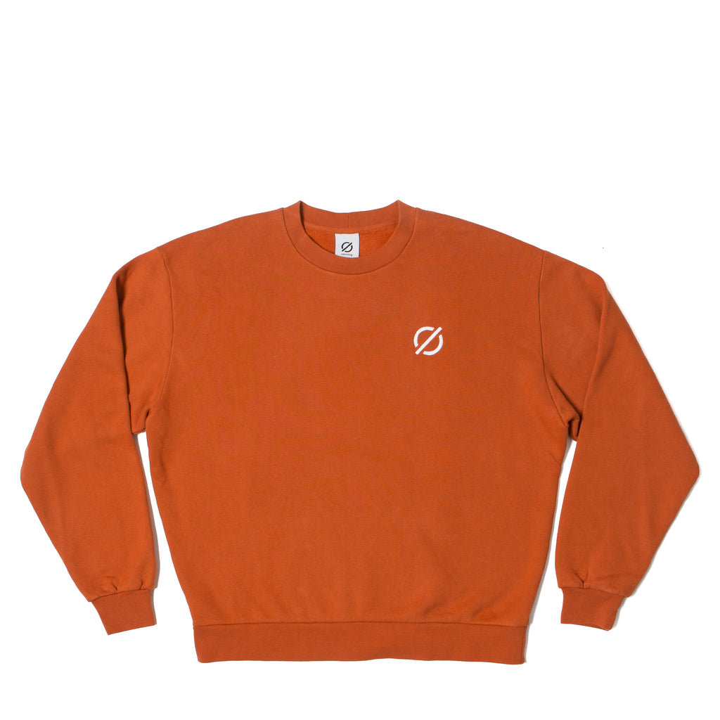 Logo Crewneck Sweater - Rust