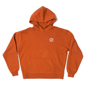 Logo Hooded Sweatshirt - Rust