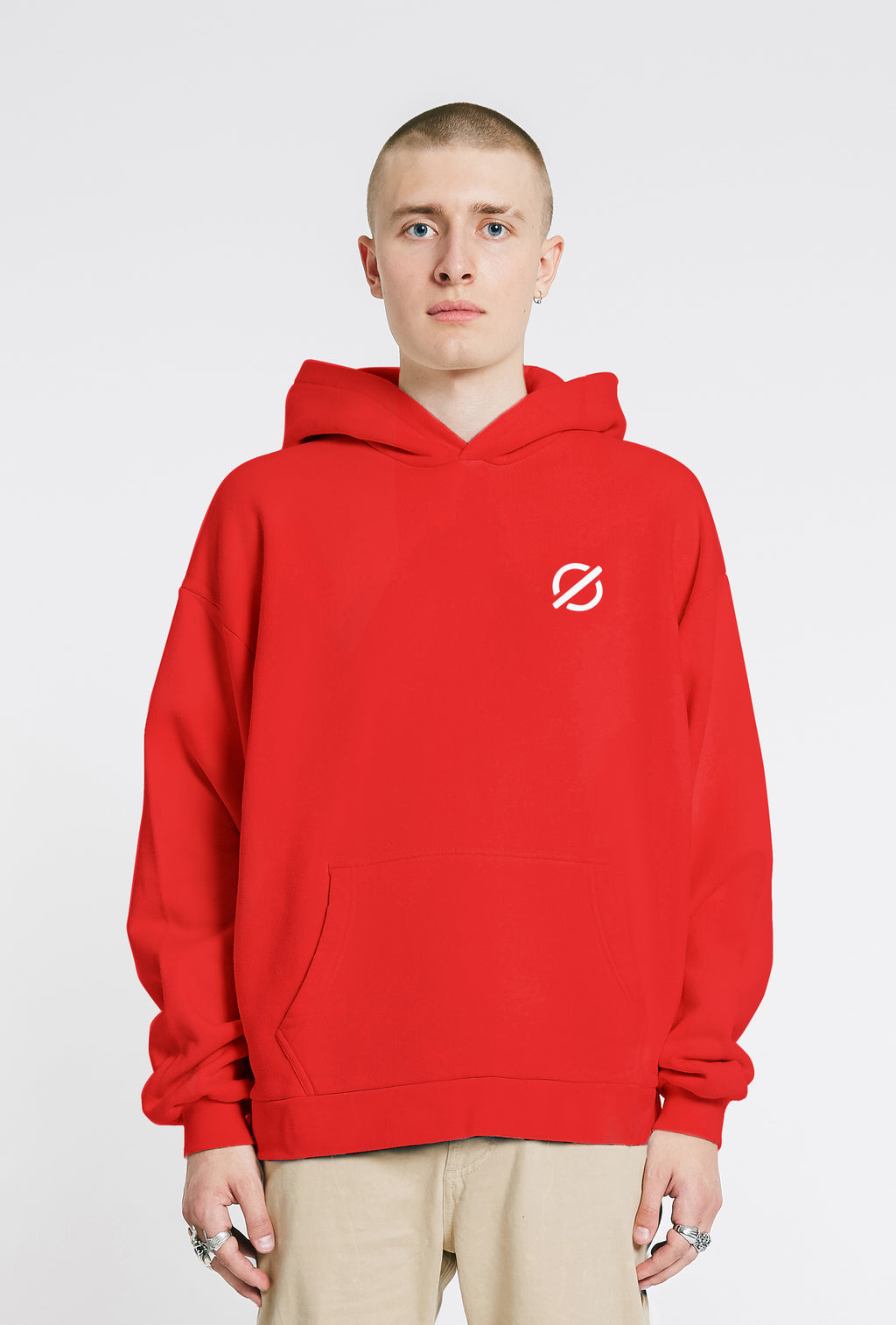 Hooded Sweatshirt - Crimson Red
