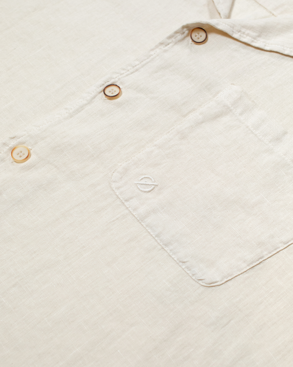 Washed Stone Linen Shirt
