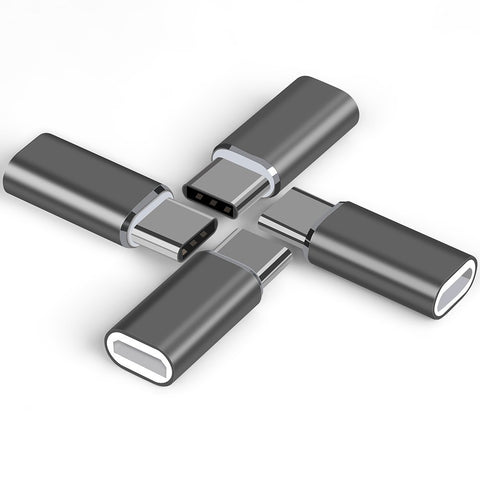 USB-C to Micro USB Adapter (4 Pack) Grey