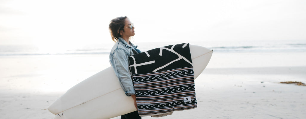 Thread Spun creates handmade and fair trade surfboard bags in Encinitas, California