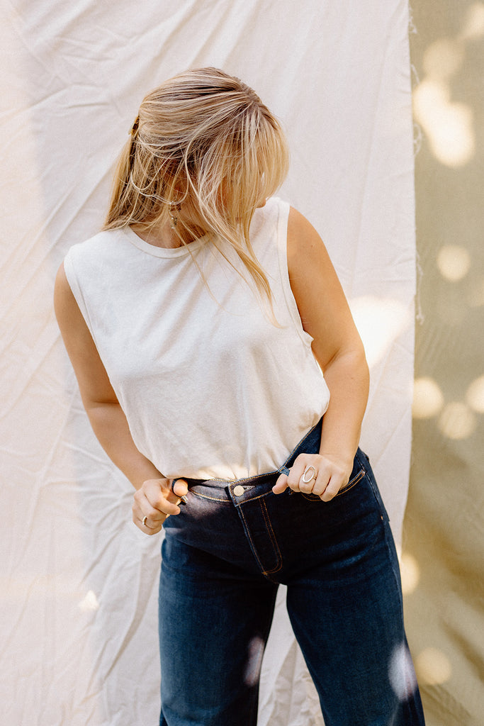 The Favola top in ivory by eve gravel